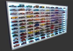 Arte Curitiba Toy Display, Display Shelves, Display Case, Matchbox Car Storage, Hot Wheels Display, Gun Storage, Diy Art, Wooden Toys, Diy And Crafts