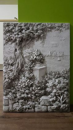 Одноклассники Concrete Sculpture, Cardboard Sculpture, Sculpture Painting, Wall Sculptures, Clay Wall Art, Cement Art, Wall Painting Decor, Plaster Art, Wall Art Wallpaper