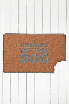Beware of the Dog Doormat