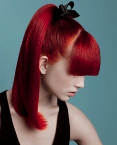 Red ponytail