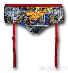 Looking good with Wonder Woman garters!