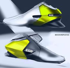 Sport Shoes - Copic / Photohop / Sketchbook / Digital - Industrial Design Sketches
