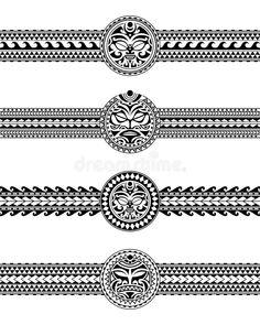 Set Of Maori Polynesian Tattoo Border Tribal Sleeve Pattern Vector. Samoan Bracelet Tattoo Design Fore Arm Or Foot. Stock Vector – Illustration of maori, bracelet: 163486631 – Tattoo Welt Maori Tattoo Arm, Polynesian Tattoo Sleeve, Tribal Band Tattoo, Wrist Band Tattoo, Aztec Tribal Tattoos, Tribal Armband, Forearm Band Tattoos, Tribal Shoulder Tattoos, Polynesian Tattoo Designs