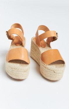 Soludos ~ Minorca High Platform Sandal ~ Tan
