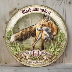 bemalte Holztscheibe mit Fuchs Motiv Airbrush, Decoy Carving, Fox Drawing, Leather Tooling, Hunting, Scrap, Watercolor, Drawings, Tattoo