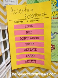 Accepting Feedback: Social Skills Activities