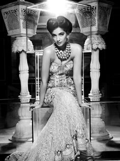 Sonam Kapoor - Black & white Photo