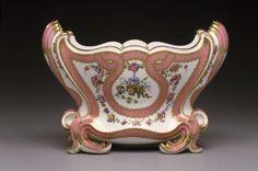 """Vase (cuvette """"Mahon""""), Sevres Porcelai Manufactory (Manufacture royale de porcelaine de Sevres), FRANCE: Sevres, 1757, soft paste porcelain, H. 8 1/8 in., W. 11 1/2 in."""