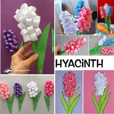 Paper hyacinth - My site Easter Crafts For Seniors, Spring Crafts For Kids, Mothers Day Crafts, Diy Crafts For Kids, Art For Kids, Diy Ostern, Mother's Day Diy, Spring Art, Camping Crafts
