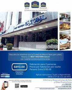 Descubre todos los atractivos que la Ciudad de México tiene para ti, reservando en BEST WESTERN Estoril con esta promoción.