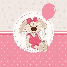 Vector: baby girl rabbit