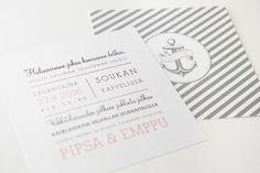 Hääkutsut / makeadesign / wedding invitation