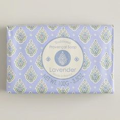 One of my favorite discoveries at WorldMarket.com: Lavender Provencal Soap