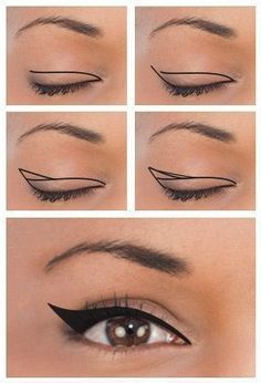 Winged Eyeliner for Downturned Eyes #wingedlinerlooks #eyemakeupforbeginners