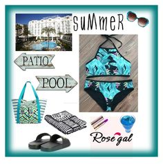 """""""Pool or Patio"""" by boutiquebrowser ❤ liked on Polyvore featuring Dolce&Gabbana, HAY, Vera Bradley and Oscar de la Renta"""