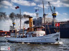 """Die """"Schaarhörn"""" bei einem Ausflug auf der Elbe    http://www.heimathafen-aktuell.de"""