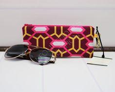 Zipper Glasses Pouch - Sunglasses Case - Eyeglass Case - Reading Glasses Case - Padded Glasses Case - Geometric Fabric -  Joel Dewberry by TalfourdJones on Etsy
