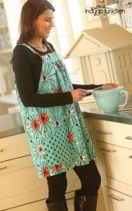 It's never too early to start sewing with your little ones! Indygo Junction's Easy-On Apron and The Pint-Sized Pinafore are perfect for some mother/daughter fun This classic aprons are perfect for cooking in the kitchen, playing outside, or wearing a fun, comfy topper over leggings or jeans.$12.99