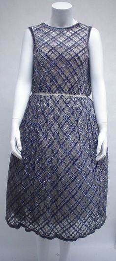 Bob Bugnand sequined tulle party dress  1960s