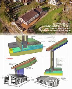 energy efficient beautiful home -schwedenplatte -wall insulation 400 mm -roof insulation 600 mm -ground-air heat exchanger Roof Insulation, Heat Exchanger, Passive House, Energy Efficiency, Beautiful Homes, Building A House, Workshop, Construction, Projects