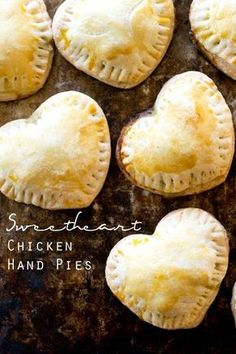 sweetheart chicken hand pies / savory hand pies recipe / valentines day / heart shaped dinner idea / cute kids food / mixed vegetables via @tastesoflizzyt