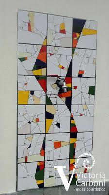 Mosaico de revestimiento. Año 2012. Diseño y realización: Victoria Carboni