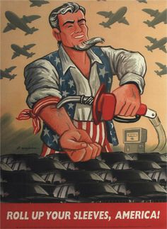 """Post with 334 views. """"Roll Up Your Sleeves, America!"""" Oil dependence poster by Art Spiegelman, 2003 Vintage Ads, Vintage Posters, Vintage Signs, Cold War Propaganda, Art Spiegelman, Political Cartoons, Political Posters, Political Economy, Politics"""