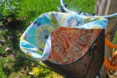 DIY Double Sided Basket Cover for a bicycle or a beach bag!