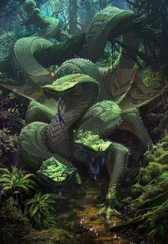 Green Dragon, Brett MacDonald on ArtStation at https://www.artstation.com/artwork/egq1D