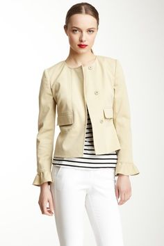 RED Valentino Ruffle Sleeve Cuff Jacket by RED Valentino & LOVE Moschino