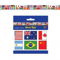 International Flag 20ft Party Tape   1ct - $2.45