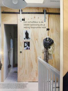 underlayment schuifdeur * geen goede isolatie voor geluid, wel mooi en goedkoop