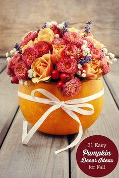 21 Easy Pumpkin Deco