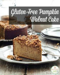 This is pretty much everything we love about fall, in a gluten-free cake! #Pumpkin | Fit Bottomed Eats