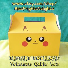 Pokemon Inspired Gable Box Pikachu Instant by MissFrightsDelights