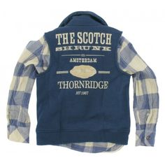 Scotch and Soda - Blouse + Vest http://www.schweigmann.nl/scotch-and-soda-shrunk-blouse-en-vest-blauw