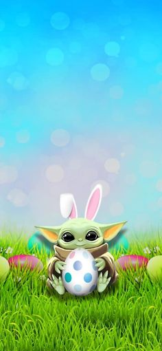 Pin on yoda Easter Egg baby Easter Wallpaper, Wallpaper Iphone Cute, Cute Wallpapers, Yoda Funny, Yoda Meme, Cute Disney Drawings, Cute Drawings, Holiday Pictures, Cute Pictures