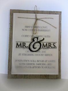 Handmade Wedding Invites