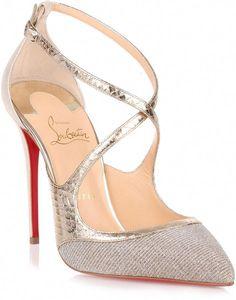 e25f4a87e1f Christian Louboutin Crissos 100 silver glitter pump  ChristianLouboutin  Shoes Heels Boots