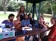 Taking the volunteer crew out for rec time at Noosa Heads, with chocolate cake!