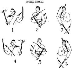 "Who knew they made a diagram of sinawali. Lol. Oh there's a ""single"" version? That's what I imply from it saying ""double."" ...That's not ancient Filipino way. We have single stick and double stick arts, but not single stick sinawali. Well then..."