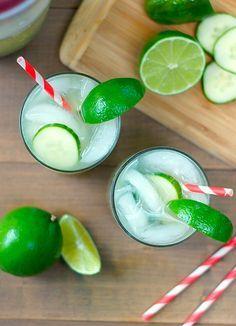 Cucumber Basil Sparkling Limeade