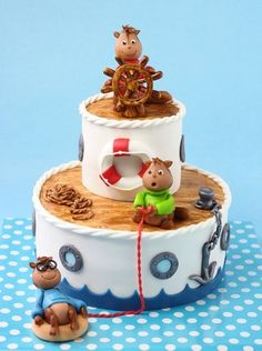 Alvin and the chipmunks...shipwrecked  Cake by leonietje