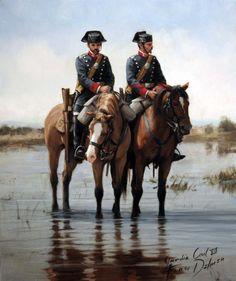 guardia-civil-ferrer-dalmau Military Art, Military History, Art Of Fighting, Military Drawings, Spanish Artists, Napoleonic Wars, Modern Warfare, War Machine, World War I