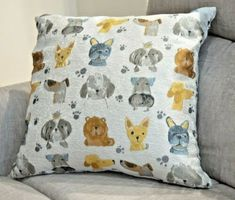 Dog Puppy Throw Pillow 20x20 Reversible Tapestry Gray BRAND NEW Polyester #pillows (ebay link) Tapestry Weaving, Throw Cushions, Animal Design, Cover Art, Decorative Throw Pillows, Dogs And Puppies, Pillow Covers, Gray