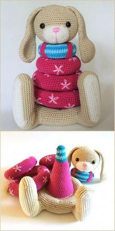 Stacking Toys [Crochet Patterns, Free Crochet Patterns] Stacking Toy Crochet PatternsAmigurumi,amigurumi toys,amigurumi dsigbs,amigurumi…Cute Crochet Projects – You'll Love These Patterns Crochet Baby Toys, Crochet Gifts, Cute Crochet, Crochet For Kids, Baby Blanket Crochet, Crochet Animals, Crochet Dolls, Baby Knitting, Easy Crochet