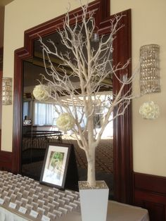 Wishing tree Centerpieces, Curtains, Home Decor, Homemade Home Decor, Interior Design, Home Interiors, Decoration Home, Centerpiece, Window Scarf
