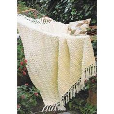Popcorn and Lace Afghan in Patons Canadiana | Knitting Patterns | LoveKnitting