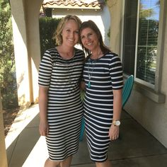 LuLaRoe Julia dresses. Stripes are always a great idea! Http://lulaclothes.com