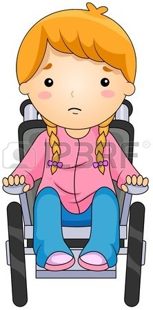 Illustration of a Kid on a Wheelchair Stock Illustration